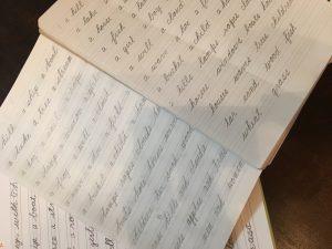 筆記体練習ノート
