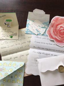 生徒さんからの手紙の写真