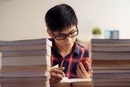 試験勉強の様子写真